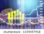 businessman on digital stock... | Shutterstock . vector #1155457918