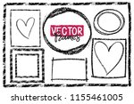 frames drawn with a crayon. wax ...   Shutterstock .eps vector #1155461005