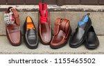 some classic venetian shoes... | Shutterstock . vector #1155465502