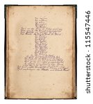 wonderful old handwriting.... | Shutterstock . vector #115547446