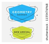 set of trendy flat geometric... | Shutterstock .eps vector #1155476968