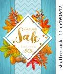 seasonal autumn sale banner or... | Shutterstock .eps vector #1155490642