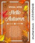 seasonal autumn banner or... | Shutterstock .eps vector #1155490648