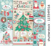 christmas scrapbook elements.... | Shutterstock .eps vector #115549516