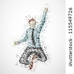 Abstract Businessman From...
