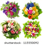 beautiful colorful fresh... | Shutterstock . vector #115550092