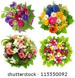 beautiful colorful fresh... | Shutterstock . vector #115550092