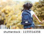 back to school. cute asian... | Shutterstock . vector #1155516358