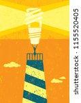 energy conservation lighthouse. ...   Shutterstock .eps vector #1155520405