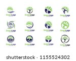 people tree logo and icon... | Shutterstock .eps vector #1155524302