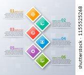 vector abstract 3d paper... | Shutterstock .eps vector #1155525268