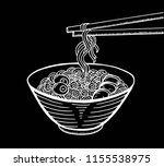 hand drawn japanese food sketch ...   Shutterstock .eps vector #1155538975