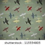 Retro Seamless War Planes...