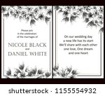 invitation greeting card with... | Shutterstock .eps vector #1155554932