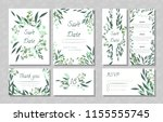 eucalyptus design. wedding... | Shutterstock .eps vector #1155555745