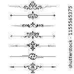 vintage set of decorative... | Shutterstock .eps vector #1155565375