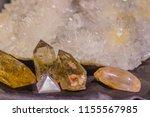 quartz prismatic habit stone... | Shutterstock . vector #1155567985