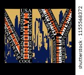 new york brooklyn sport...   Shutterstock .eps vector #1155568372