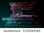football concept. vector drawn... | Shutterstock .eps vector #1155569185