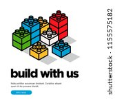 build with us hiring poster... | Shutterstock .eps vector #1155575182