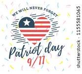patriot day. 11th of september. ... | Shutterstock .eps vector #1155581065
