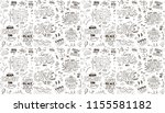 seamless pattern with slogan.... | Shutterstock .eps vector #1155581182