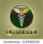 gold shiny emblem with...   Shutterstock .eps vector #1155582535