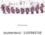 thailand garland flag with... | Shutterstock .eps vector #1155583738