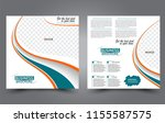 square flyer template. simple... | Shutterstock .eps vector #1155587575