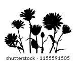 vector silhouettes of wild...   Shutterstock .eps vector #1155591505