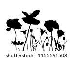 vector silhouettes of wild...   Shutterstock .eps vector #1155591508