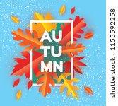 beautiful autumn paper cut...   Shutterstock . vector #1155592258