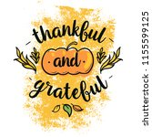 thanksgiving day. logo  text... | Shutterstock .eps vector #1155599125