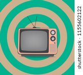 pink television in retro style | Shutterstock .eps vector #1155602122