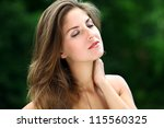young and beautiful woman... | Shutterstock . vector #115560325