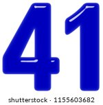 numeral 41  forty one  isolated ... | Shutterstock . vector #1155603682