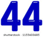 numeral 44  forty four ... | Shutterstock . vector #1155603685