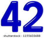 numeral 42  forty two  isolated ... | Shutterstock . vector #1155603688