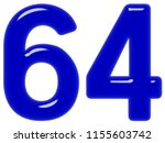 numeral 64  sixty four ... | Shutterstock . vector #1155603742