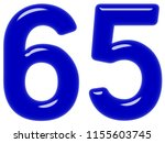 numeral 65  sixty five ... | Shutterstock . vector #1155603745
