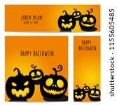 happy halloween vector ... | Shutterstock .eps vector #1155605485