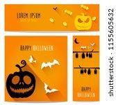 happy halloween vector ... | Shutterstock .eps vector #1155605632