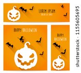 happy halloween vector ... | Shutterstock .eps vector #1155605695