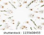 autumn composition. frame made... | Shutterstock . vector #1155608455