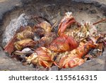 traditional way of meat cooking ... | Shutterstock . vector #1155616315