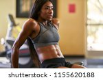 fit african american woman... | Shutterstock . vector #1155620188