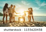 happiness friends funny game on ...   Shutterstock . vector #1155620458