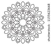 easy mandalas  simple mandala... | Shutterstock . vector #1155623668