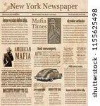 old new york newspaper ... | Shutterstock .eps vector #1155625498