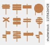 wooden signboards arrow sign... | Shutterstock .eps vector #1155626428